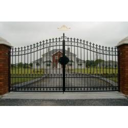 Brama kuta dwuskrzydłowa BK16