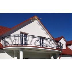 Balustrada kuta balkonowa BB04
