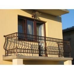 Balustrada kuta balkonowa BB12