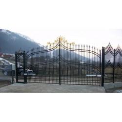 Brama nowoczesna dwuskrzydłowa BN09