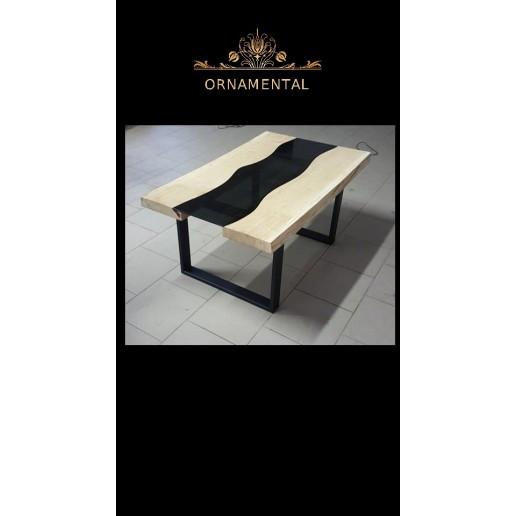 Stolik kawowy drewno ze szkłem